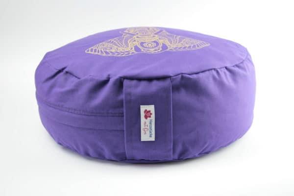 Violettes Yogakissen mit Elefantenmotiv