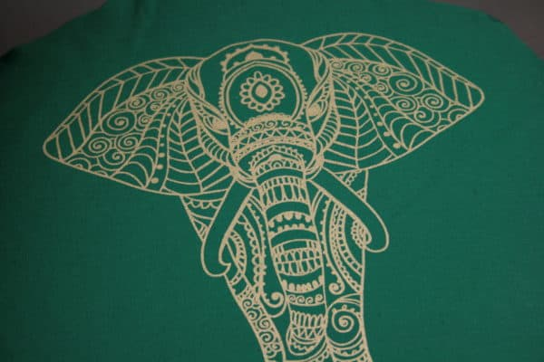 Detailbild Elefant in Gold