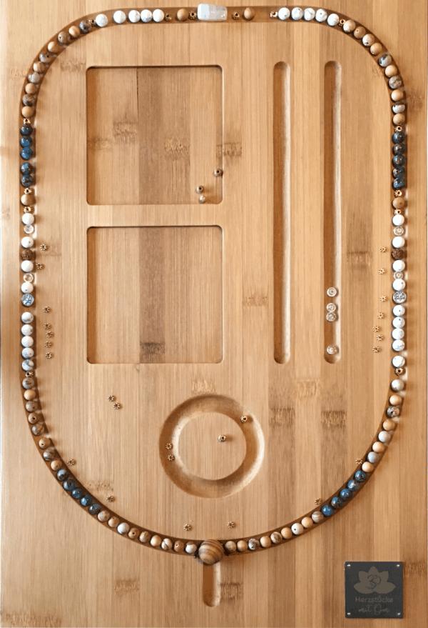Malaketten Beispiel auf Perlenbrett