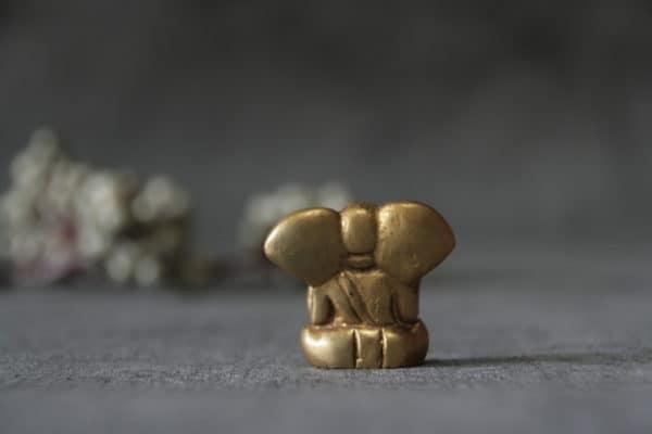 Ganesha aus Messing Rückansicht