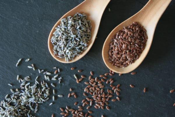 Augenkissenfüllung Bio-Leinsamen und Bio-Lavendel