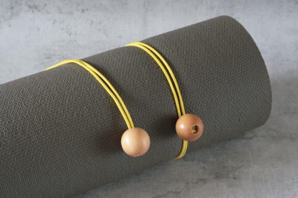 Gummibänder für Sportmatte in Gelb
