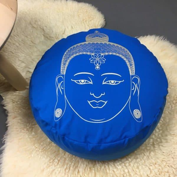 Yogakissen Buddha Blau